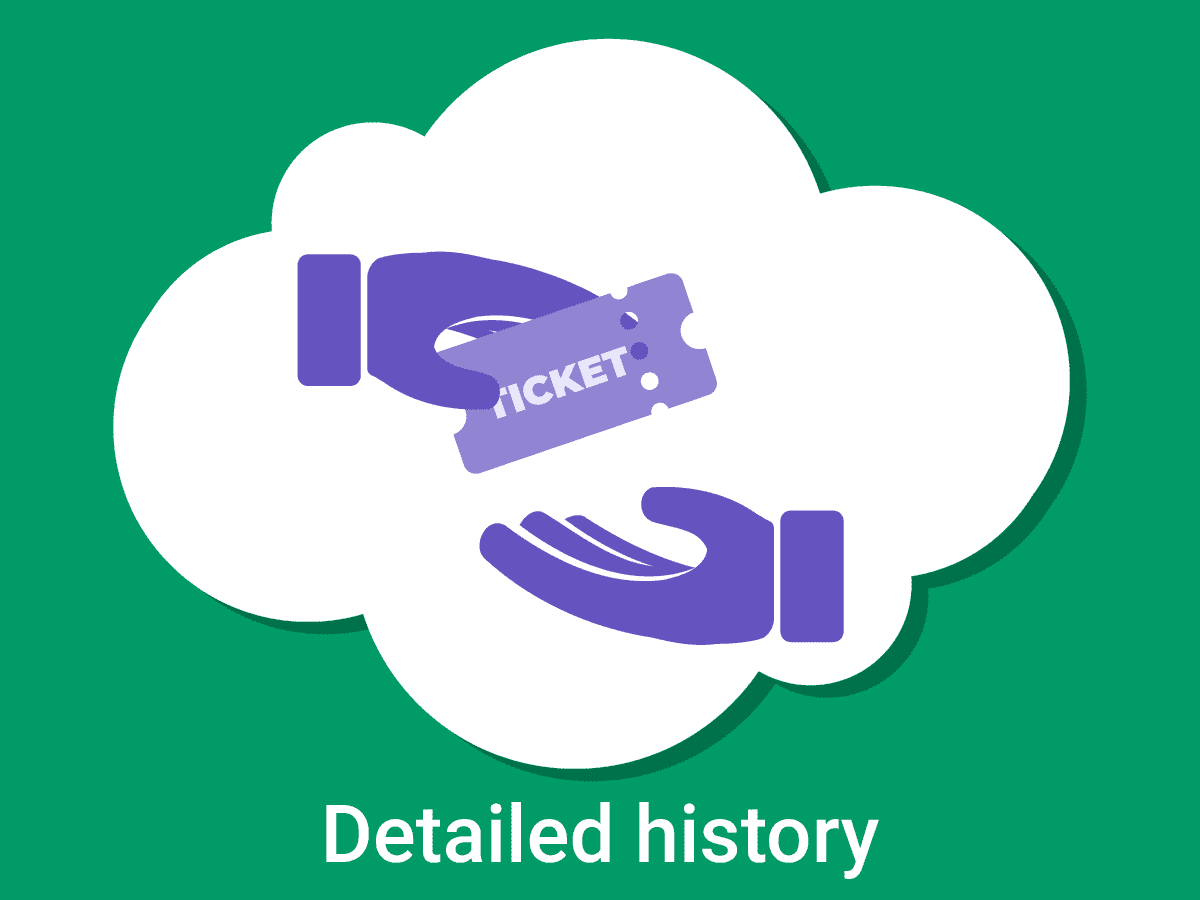 detailed ticket history