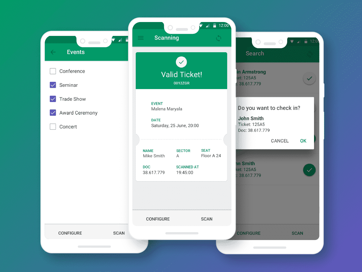 ticket validation app